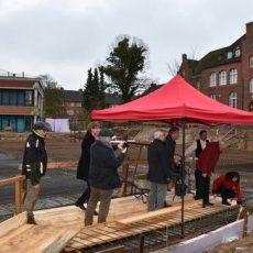 Grundsteinlegung für den Neubau am GSP