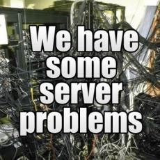 Technische Probleme bei unserem Hoster