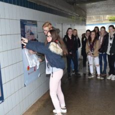 Schüler des GSP malen neue Blickfänger
