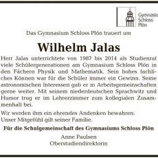 Nachruf: Wilhelm Jalas