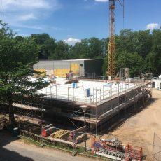 Jede Menge Beton für den Neubau am GSP
