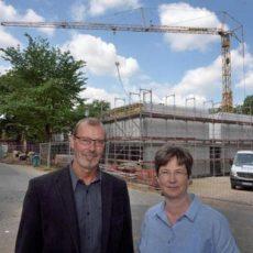 Neubau am GSP: Fachgebäude wächst