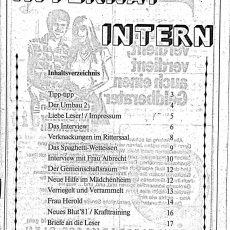 Neu in der Bildergalerie: Internat Intern Nr. 11 von 1981
