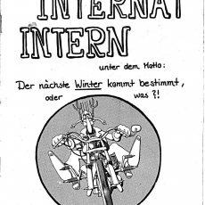 Neu in der Bildergalerie: Internat Intern Nr. 19 von 1985
