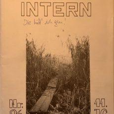 Neu in der Bildergalerie: Internat Intern Nr. 26 von 1988