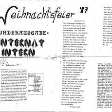 Neu in der Bildergalerie:  Internat Intern Sonderausgabe von 1987