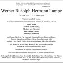 Nachruf: Werner Lampe