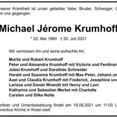 Nachruf: Michael Jérome Krumhoff
